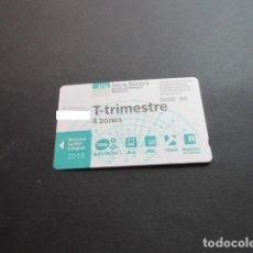 Collezionismo Biglietti di trasporto: TARJETA T-TRIMESTRE 4 ZONAS AÑO 2019. Lote 200376083