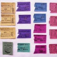Coleccionismo Billetes de transporte: LOTE DE 21 BILLETES DE TRANVÍA MUY ANTIGUOS.. Lote 201209075