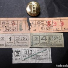 Coleccionismo Billetes de transporte: BILLETES DE TRAMVIA CAP Y CUAS . Lote 201361592