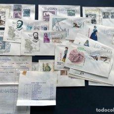 Coleccionismo Billetes de transporte: LOTE 18 SOBRES PRIMER DIA 8 AÑO 1968 ) FACTURA DE VENTA DE LA EPOCA / SISO LLEIDA / TAMARITE LITERA. Lote 201796970