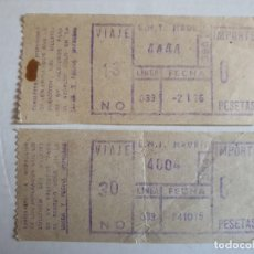 Coleccionismo Billetes de transporte: BILLETES DE AUTOBUS DE MADRID 1975 Y 1976 ( CAPICUAS ). Lote 203321913