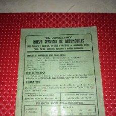 Coleccionismo Billetes de transporte: SERVICIO DE AUTOMÓVILES - AÑOS 20 - PARA PASAJEROS Y ENCARGOS - SALIDAS DE FONDAS Y POSADAS. Lote 203944035
