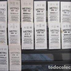 Coleccionismo Billetes de transporte: COLECCION METRO MADRID - BILLETE SENCILLO 14 BILLETES DIFERENTES LEER DETALLE EN INTERIOR ENTRE GRAC. Lote 206225241