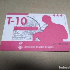 Coleccionismo Billetes de transporte: T-10 MOLLET. Lote 206279286