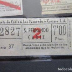 Coleccionismo Billetes de transporte: BILLETE TRANVIAS DE CADIZ 7 PESETAS - CAPICUA 72827. Lote 206866905
