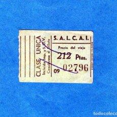 Coleccionismo Billetes de transporte: BILLETE TRANSPORTE DE LA ISLA DE GRAN CANARIA CLASE UNICA PRECIO VIAJE PTAS. 212. Lote 206930770