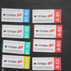 Coleccionismo Billetes de transporte: MADRID - METRO AUTOBUS LOTE DE 10 BONOS DE DIFERENTES ZONAS DE 10 VIAJES. Lote 207065583