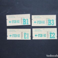 Coleccionismo Billetes de transporte: MADRID - METRO AUTOBUS LOTE DE 4 CUPONES FEBRERO 2002 DIFERENTES ZONAS. Lote 207066773