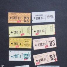 Coleccionismo Billetes de transporte: MADRID - METRO AUTOBUS LOTE DE 11 CUPONES AÑO 2013 DIFERENTES ZONAS. Lote 207066855