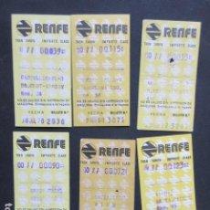 Coleccionismo Billetes de transporte: LOTE 6 BILLETES RENFE DIFERENTES TRAYECTOS - REFERENCIA - ARD-RENFE-1. Lote 207067856