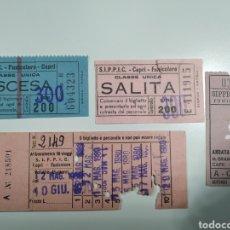 Coleccionismo Billetes de transporte: BILLETES S.I.P.P.I.C. CAPRI ITALIA - LOTE 147. Lote 207132031