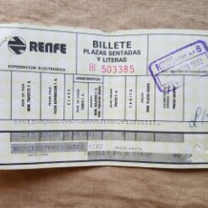 Coleccionismo Billetes de transporte: BILLETE RENFE SEVILLA TREMP 1982. Lote 207371345