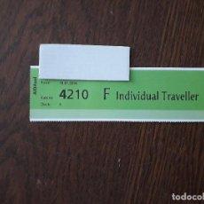 Coleccionismo Billetes de transporte: TICKET, BRAZALETE, INDIVIDUAL TRAVELLER, PASAJERO CRUCERO AIDA SOL.. Lote 208594552