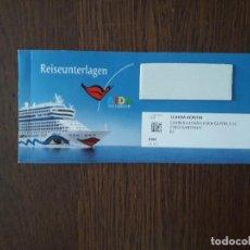 Coleccionismo Billetes de transporte: TALONARIO PASAJES, PARA PASAJEROS CRUCERO AIDA SOL. AÑO 2014. Lote 208594616