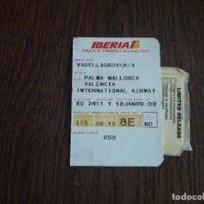 Coleccionismo Billetes de transporte: TARJETA DE EMBARQUE PARA VUELO, IBERIA. Lote 210149476