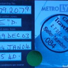 Coleccionismo Billetes de transporte: BILLETE METRO MLYNX MANCHESTER. Lote 211478410