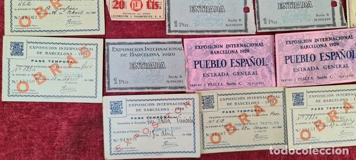 Coleccionismo Billetes de transporte: COLECCIÓN DE 63 ENTRADAS Y BILLETES DE LA EXPOSICION DE BARCELONA 1929. - Foto 2 - 212062343