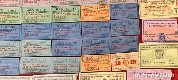 Coleccionismo Billetes de transporte: COLECCIÓN DE 63 ENTRADAS Y BILLETES DE LA EXPOSICION DE BARCELONA 1929. - Foto 3 - 212062343