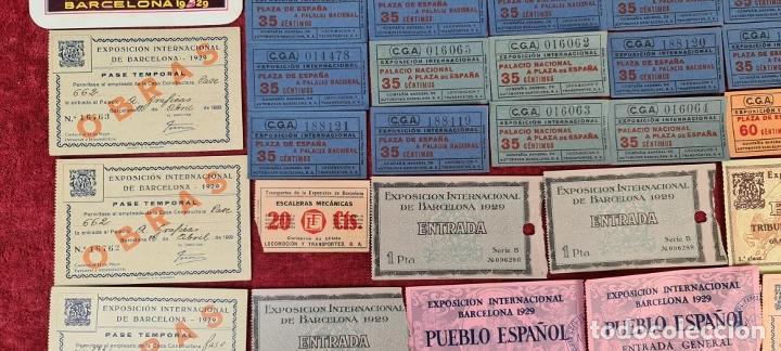 Coleccionismo Billetes de transporte: COLECCIÓN DE 63 ENTRADAS Y BILLETES DE LA EXPOSICION DE BARCELONA 1929. - Foto 4 - 212062343