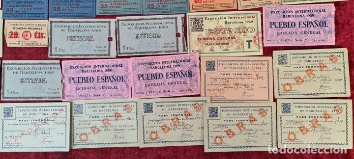 Coleccionismo Billetes de transporte: COLECCIÓN DE 63 ENTRADAS Y BILLETES DE LA EXPOSICION DE BARCELONA 1929. - Foto 7 - 212062343