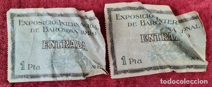 Coleccionismo Billetes de transporte: COLECCIÓN DE 63 ENTRADAS Y BILLETES DE LA EXPOSICION DE BARCELONA 1929. - Foto 8 - 212062343