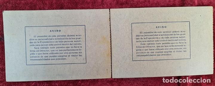 Coleccionismo Billetes de transporte: COLECCIÓN DE 63 ENTRADAS Y BILLETES DE LA EXPOSICION DE BARCELONA 1929. - Foto 10 - 212062343