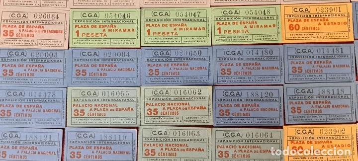 Coleccionismo Billetes de transporte: COLECCIÓN DE 63 ENTRADAS Y BILLETES DE LA EXPOSICION DE BARCELONA 1929. - Foto 13 - 212062343