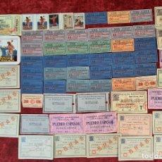 Coleccionismo Billetes de transporte: COLECCIÓN DE 63 ENTRADAS Y BILLETES DE LA EXPOSICION DE BARCELONA 1929.. Lote 212062343