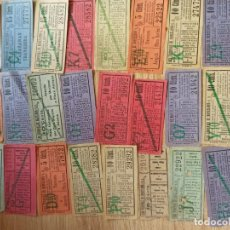 Coleccionismo Billetes de transporte: AC3. TRANVÍAS DE BARCELONA. CIENTOS DE CAPICUAS. INTERESANTE. Lote 212083613