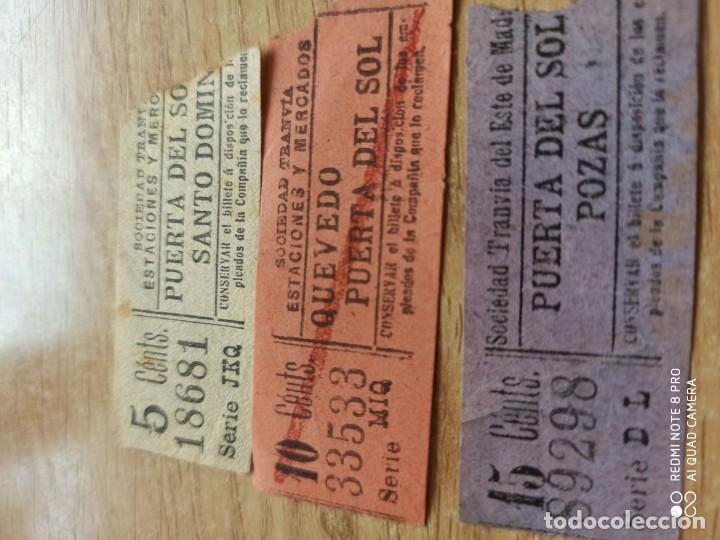 AB3. TRANVÍAS DE MADRID. CAPICUAS (Coleccionismo - Billetes de Transporte)