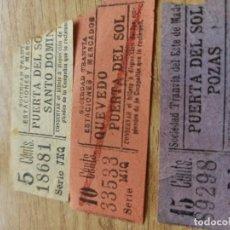 Coleccionismo Billetes de transporte: AB3. TRANVÍAS DE MADRID. CAPICUAS. Lote 212084482