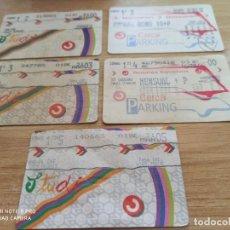 Coleccionismo Billetes de transporte: AA9. 5 ABONOS RENFE CERCANÍAS. Lote 212395616