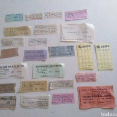 Coleccionismo Billetes de transporte: LOTE DE 24 BILLETES DE TRANSPORTES ANTIGUOS. Lote 213073442