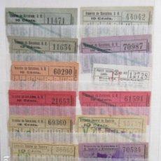 Coleccionismo Billetes de transporte: ALBUM CON MAS DE 300 BILLETES DE BARCELONA DIFERENTES EPOCA SE VENDE TODO LO DE LA FOTO. Lote 213466260