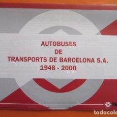 Coleccionismo Billetes de transporte: COLECCION COMPLETA POR FASCICULOS HISTORIA AUTOBUSES DE BARCELONA 1948 - 2000 - COMPLETA. Lote 213466462