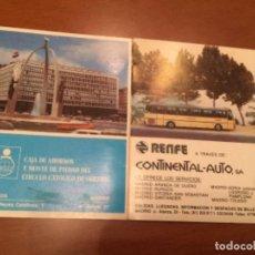 Colecionismos Bilhetes de Transporte: BILLETE DE AUTOBÚS, LA CONTINENTAL - AUTO , BURGOS - FRESNEDA 1984 , RENFE. Lote 215297995