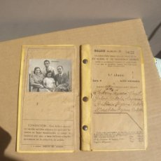 Coleccionismo Billetes de transporte: CARNET FAMILIAR TREN 1943. Lote 216767121
