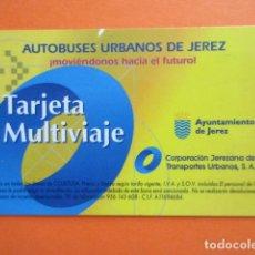 Collectionnisme Billets de transport: TARJETA PLASTICO EMPRESA AUTOBUSES URBANOS DE JEREZ DE LA FRONTERA CADIZ. Lote 217195495