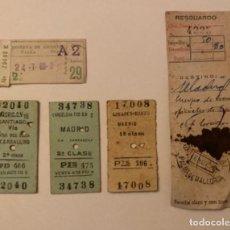 Coleccionismo Billetes de transporte: BILLETES DE TREN 1962. Lote 217471670
