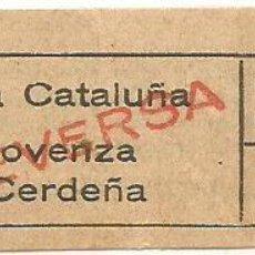 Coleccionismo Billetes de transporte: BILLETE TRANVIA T. D. B. C3 VICEVERSA 10 CTS CTS Nº 340. Lote 218092633