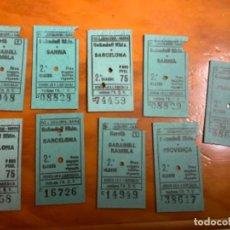 Coleccionismo Billetes de transporte: LOTE 9 BILLETES DE TREN DE LA GENERALITAT DE CATALUNYA AÑOS 80/81/82. Lote 218339940