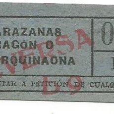 Coleccionismo Billetes de transporte: BILLETE TRANSPORTE TRANVIA T.D.B. B9 VICEVERSA 15 CTS CAPICUA Nº 086. Lote 218392583