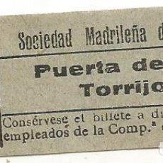 Coleccionismo Billetes de transporte: BILLETE TRANNVIA MADRID SOCIEDAD MADRILEÑA TRANVIAS 15 CTS 9 SERIA AIX Nº 422 CAPICUA. Lote 218579790