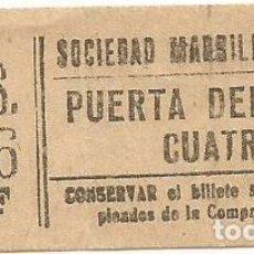 Coleccionismo Billetes de transporte: BILLETE TRANNVIA MADRID SOCIEDAD MADRILEÑA TRANVIAS 10 CENTS 8 SERIE XDF Nº 698 CAPICUA. Lote 218580636