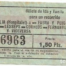 Coleccionismo Billetes de transporte: BILLETE TRANSPORTE F.C.M.B. AAV 7 1,50 PTS CAPICUA Nº 369. Lote 218792321