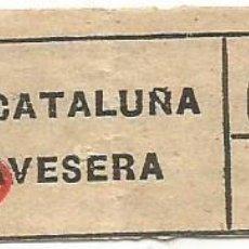 Coleccionismo Billetes de transporte: BILLETE TRANSPORTE T. D. B. D 9 15 CTS CAPICUA Nº 699. Lote 218793205