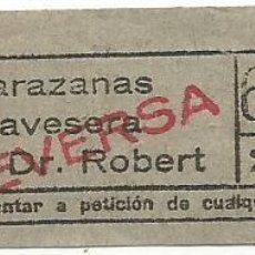 Coleccionismo Billetes de transporte: BILLETE TRANSPORTE T. D. B. F2 VICEVERSA 25 CTS CAPICUA Nº 622. Lote 218793346