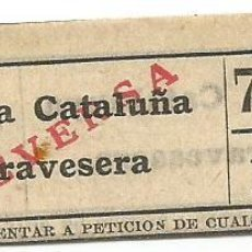 Coleccionismo Billetes de transporte: BILLETE TRANSPORTE T. D. B. B5 VICEVERSA 15 CTS CAPICUA Nº 782. Lote 218793457