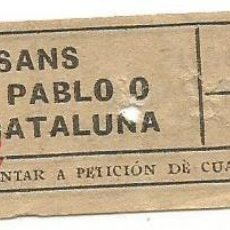 Coleccionismo Billetes de transporte: BILLETE TRANSPORTE T. D. B. A2 15 CTS CAPICUA Nº 787. Lote 218793545