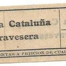 Coleccionismo Billetes de transporte: BILLETE TRANVIA T. D. B. 15 CTS S4 CAPICUA Nº 239. Lote 219010275
